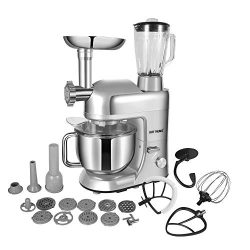 CHEFTRONIC Stand Mixer Tilt-head mixers SM-1086 120V/650W 5.5qt Stainless Steel Mixing Bowl 6 Sp ...