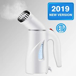 Homitt Handheld Clothes Steamer Portable Travel Steamer Clothes Wrinkle Remover/Soften/Sanitize/ ...