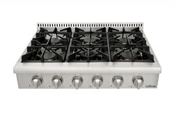 Thor Kitchen 36″ Stainless Steel Gas Rangetop Gas Stove Top Cooker with with 6 Sealed Burn ...