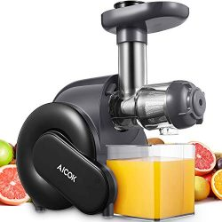 Juicer Machine, Aicok Slow Masticating Juicer with Quiet Motor, Safe Lock, Reserve Function, Eas ...