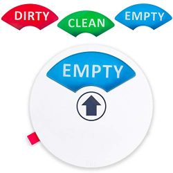 """Dishwasher Magnet (1pc) – Clean, Dirty or Empty Sign – Non-Scratch 3.5"""" Magnetic Sig ..."""
