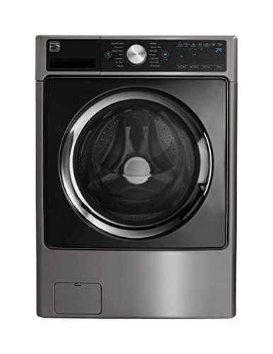 Kenmore Elite 41783 4.5 cu. ft. Smart Front-Load Washer with Accela Wash in Metallic Silver, inc ...