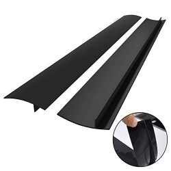 Kitchen Silicone Stove Counter Gap Cover, Easy Clean Heat Resistant Wide & Long Gap Filler,  ...