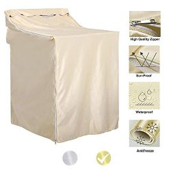 """QLLY Washer/Dryer Cover for Top-loading Machine – Waterproof, Dustproof, Sun-Proof, W27""""D33""""H39"""" ..."""
