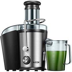 "Juicer Machine, Aicok Juice Extractor, 800W Centrifugal Juicer with 3"" Wide Mouth, Dual Sp ..."