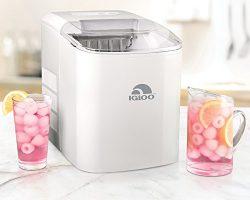 Igloo ICEB26WH 26-Pound Automatic Portable Countertop Ice Maker Machine – White