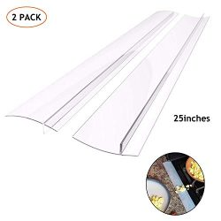 Silicone Kitchen Stove Counter Gap Cover Long & Wide Gap Filler (2 Pack) Seals Spills Betwee ...