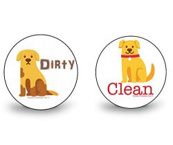 New 3″ WaterPROOF Double Sided Flip CLEAN & DIRTY Premium Dishwasher Magnet MADE in US ...