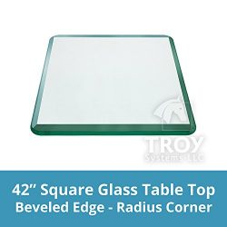 TroySys – 1/2″ Thick Square Glass Table Top (42″ x 42″) | USA Premier Gl ...