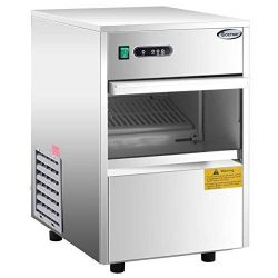 COSTWAY Stainless Steel Commercial Ice Maker 58LB/24h Automatic Portable Freestanding Ice Machine