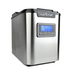 NutriChef Countertop Ice Maker – Portable Ice Cube Machine | Digital LCD Display | Adjusta ...