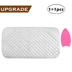 Ironing Mat, Portable Travel Ironing Blanket, Thickened Heat Resistant Ironing Pad Cover for Was ...