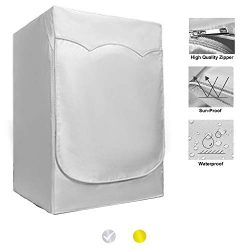 """QLLY Washer/Dryer Cover for Front-loading Machine – Waterproof, Dustproof, Sun-Proof, W27""""D33""""H3 ..."""