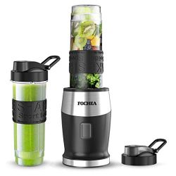 Smoothie Blender, Fochea 500W Personal Blender with BPA-Free Travel Bottles (2 * 20 oz) for Smoo ...
