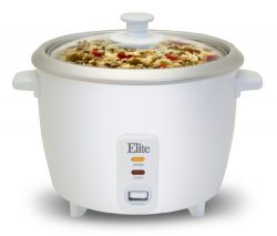 Elite Cuisine ERC-003 Electric Rice Cooker with Automatic Keep Warm Makes Soups, Stews, Grains,  ...