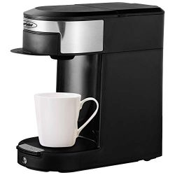 Stamo Single Serve Coffee Maker, Multi-Use Coffee Brewer for Most Single Cup Pods, 10OZ One-Touc ...