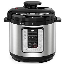 TaoTronics TT-EE007 Electric Pressure Cooker 8QT, 10-in-1 Multi-Use Programmable, No Chemical Co ...