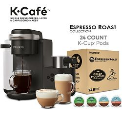 Keurig K-Cafe Single Serve Latte and Cappuccino Coffee Maker, and Espresso Roast K-Cup Pod Varie ...