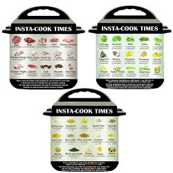 JPOQW 3PCS Pressure Cooker Cooking Schedule Magnetic Memo Sticker for Instant Pot