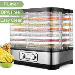 Food Dehydrator Machine – BPA Free Drying System With Nesting Tray – For Beef Jerky  ...