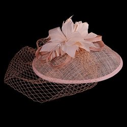 Bingo Point Vintage Headwear Hair Cord Flower Fascinator with Headband Hair Accessory One Size
