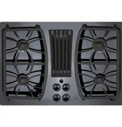 GE PGP9830DJBB Profile 30″ Black Gas Sealed Burner Cooktop – Downdraft