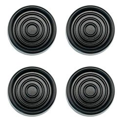 Isolate IT Sorbothane Anti-Vibration Washer and Dryer Machine Floor Pads (Black)