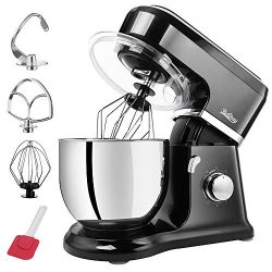 Betitay Tilt-Head Stand Food Mixer,4.5 QT Dough Kneading Machine with Stainless Steel Mixing Bow ...