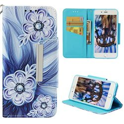 Badalink iPhone 8 Plus Case Wallet, iPhone 7 Plus Case Flip Cover Cute Painting Soft Leather Bum ...