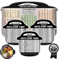 Electric Pressure Cooker Cook Times Quick Reference Guide Compatible with Instant Pot- Meat& ...