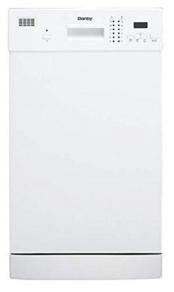 Danby DDW1804EW 18″ Built In Dishwasher White