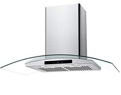 CIARRA 36″ Convertible Range Hood 450-CFM Ducted/Ductless with LED Lighting,Touch Control  ...