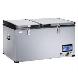 Costway Portable Compact Car Travel Refrigerator Freezer Electric Powered Cooler (84 Quart)