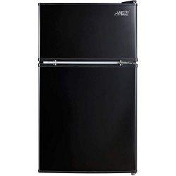 Arctic King – [ATMP032AEB] 3.2 Cubic Feet Two Door Mini Refrigerator with Freezer, Black