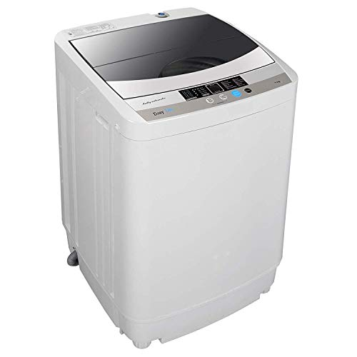 HomGarden Full-Automatic Mini Washing Machine Portable Compact 10 lbs Top Load Multifunctional L ...