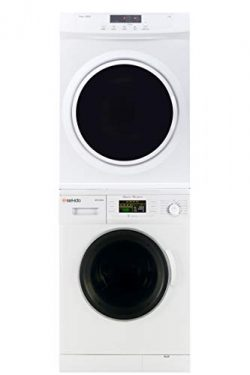 Sekido Stackable Compact Super White Washer SK 824 and Electric Venting Dryer SK 860 Set of the  ...