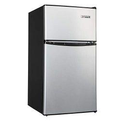 Kuppet 2-Door Mini Refrigerator Compact Refrigerator for Dorm,Garage, Camper, Basement or Office ...