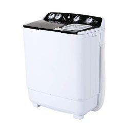 KUPPET Compact Twin Tub Portable Mini Washing Machine 21lbs Capacity, Washer(13lbs)&Spiner(8 ...