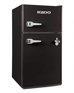Igloo IRF32DDRSBK Classic Compact Double Door Refrigerator Freezer 3.2 Cu.Ft. Black