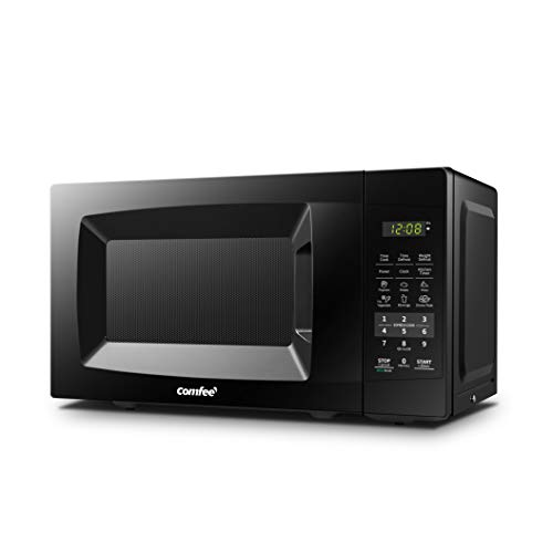 Comfee EM720CPL-PMB Countertop Microwave Oven with Sound On/Off, ECO Mode and Easy One-Touch But ...