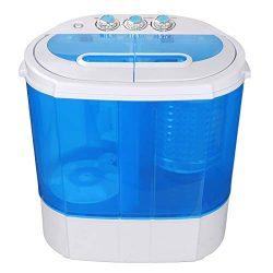 SUPER DEAL Portable Compact Washing Machine, Mini Twin Tub Washing Machine w/Washer&Spinner, ...
