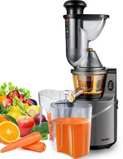 Juicer Machine Extractor with Slow Cold Press Masticating Squeezer Mechanism Technology, 3 inch  ...