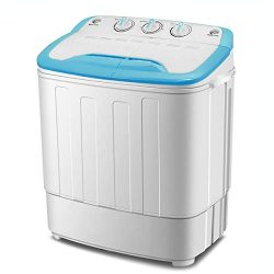 ZeoOne 13 LBS Mini Portable Compact Twin Tub Washing Machine, Washer and Spinner Combo for Apart ...
