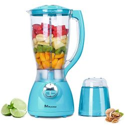 MYONAZ 2L Household Blender with A Grinding Cup Attachment Perfect for Shakes, Smoothies and Nut ...