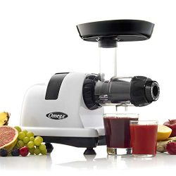 Omega J8006HDS Nutrition Center Quiet Dual-Stage Slow Speed Masticating Juicer Makes Fruit and V ...