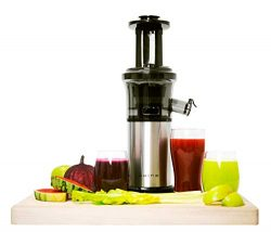 Shine Kitchen Co. Vertical Slow Juicer, SJV-107-A Cold Press, Masticating Juice Extractor, Silve ...