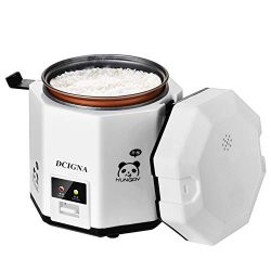 DCIGNA 1.2L Mini Rice Cooker, Electric Lunch Box, Travel Rice Cooker Small, Removable Non-stick  ...