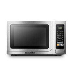 BLACK+DECKER EM036AB14 Digital Microwave Oven with Turntable Push-Button Door,Child Safety Lock, ...