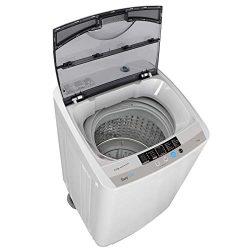 ZENY Powerful Motor Full-automatic Mini Washing Machine Laundry Washer Dryer 1.6 cu ft 8 Waterle ...