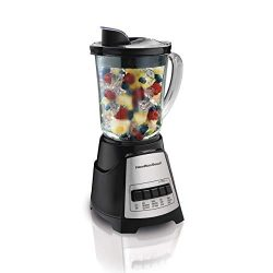 Hamilton Beach 58148 Power Elite Multi-Function Blender with Glass Jar (58148A), OSFA, Black (Ce ...